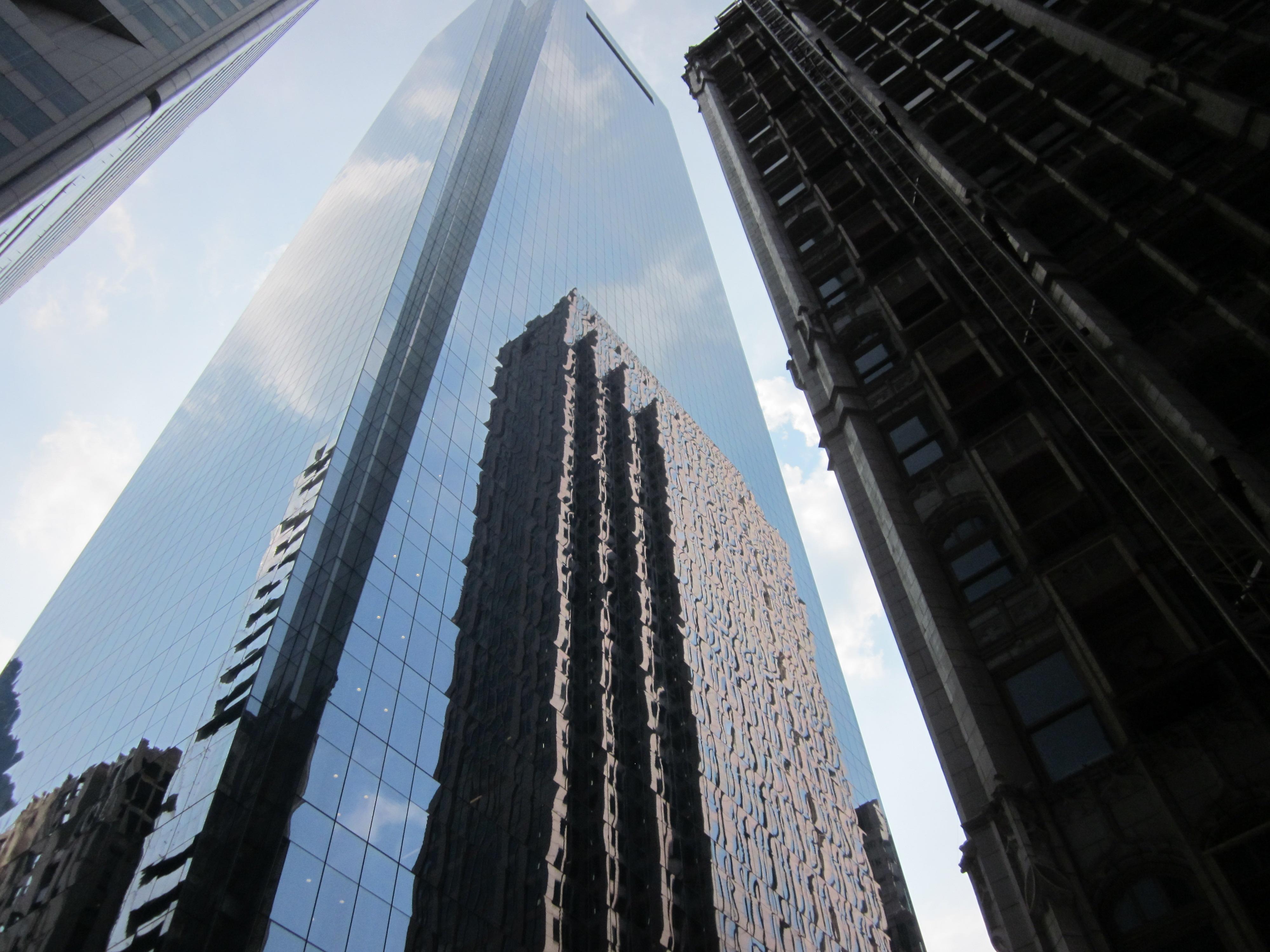 Architectural Contrast Robert Morris Building Across