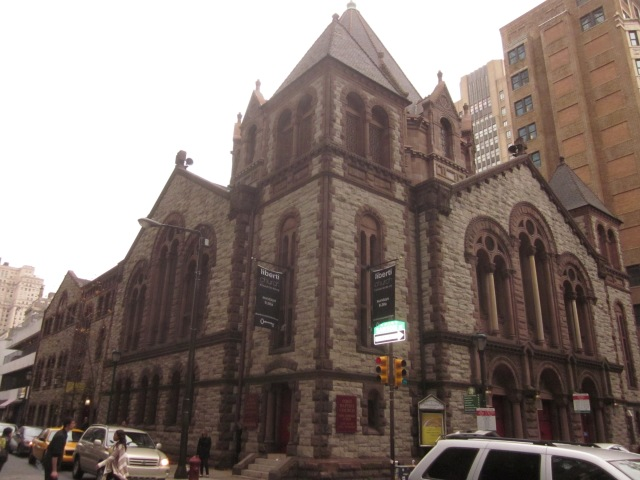 Historic First Baptist Church, which has a small theatre in the basement