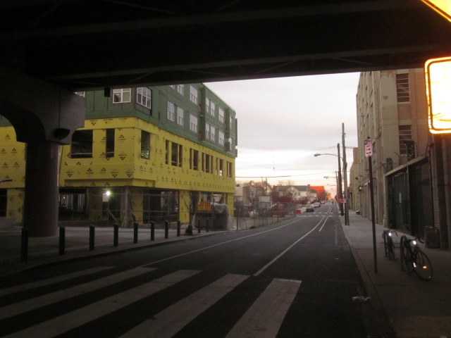 Looking east down Berks Street, from underneath Temple station