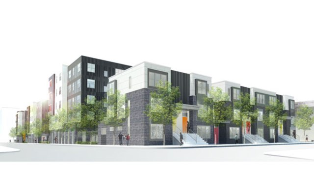 Rendering of Paseo Verde townhouses on Norris Street