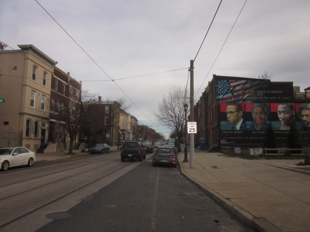 Looking east down Girard, from 31st Street