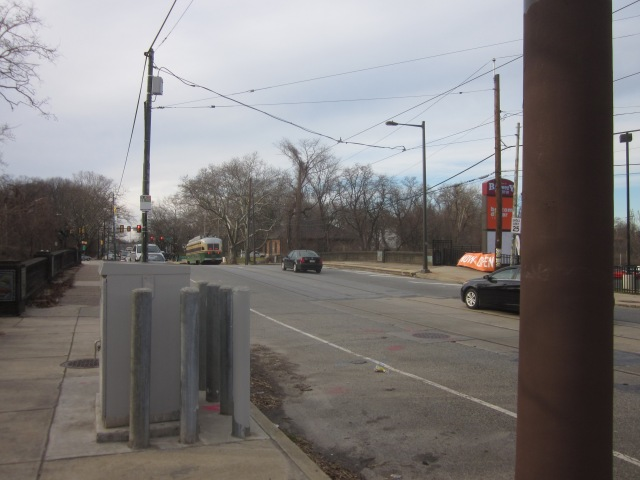 Looking west on Girard Avenue, from 31st Street, towards Fairmount Park