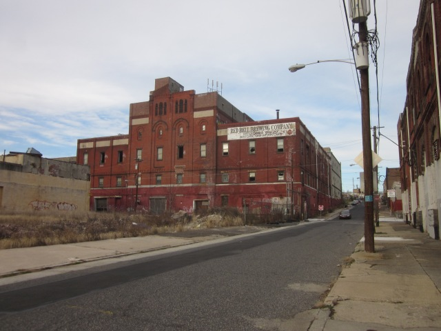 Old Red Bell Brewery, across from Glenwood Avenue from 3101 Glenwood, as seen from 31st Street