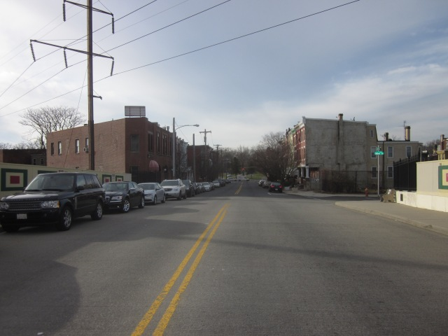 Looking west on Oxford Avenue towards Fairmount Park
