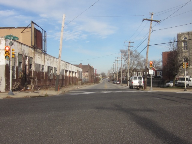 Looking north on Glenwood and old warehouses that will likely be redeveloped soon
