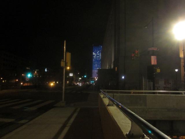 Cira Centre I lit up at night