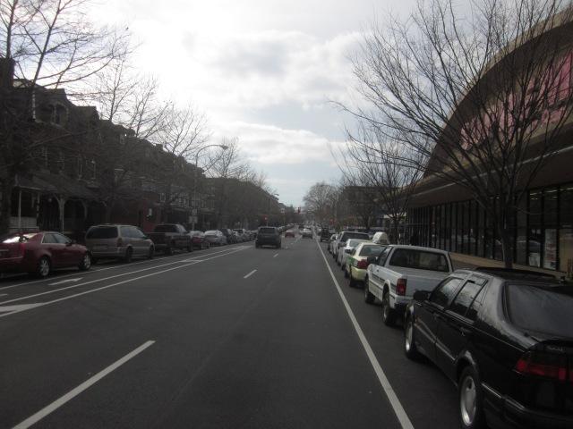 Looking west down Walnut Street, from 43rd Street