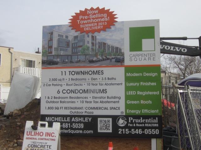 Sign announcing Carpenter Square