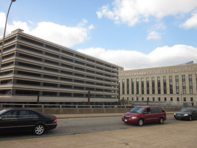 Cira South garage, seen from Schuylkill Avenue
