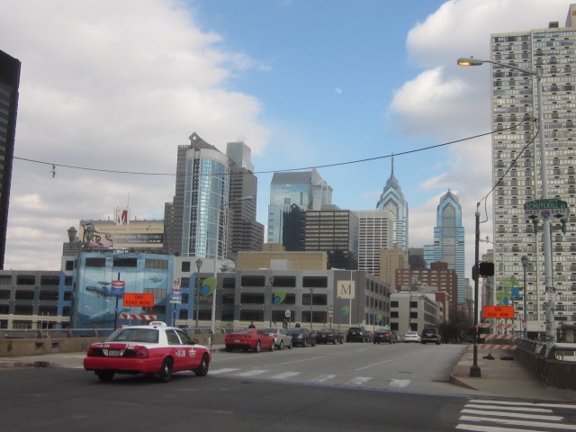 Center City skyline from 30th & Chestnut Streets