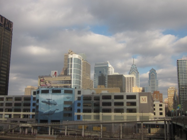 Center City skyline, from in front of IRS Service Center