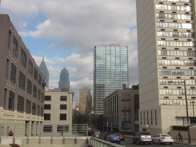2116 Chestnut Street apartments and Two Liberty Place, further in the background