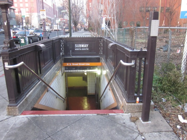 "Entrance to the Broad Street subway, at the corner, will be covered by ""Light Play"" artwork"