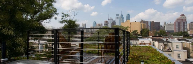 Rendering of the view from the rooftop deck
