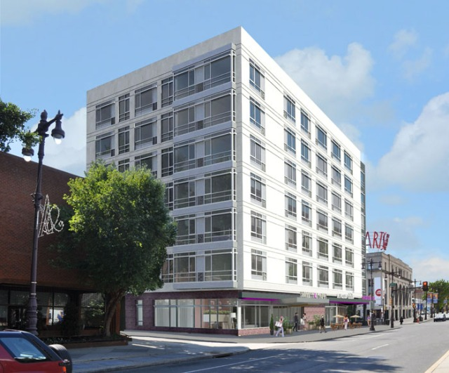 Rendering of Southstar Lofts, looking from the north
