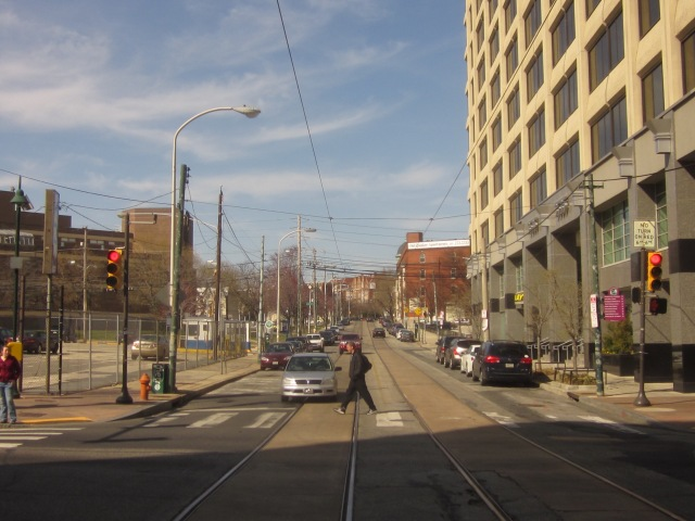 Looking north on 36th Street, along site of 3601 Market Street, towards Lancaster Avenue and Powelton Village neighborhood