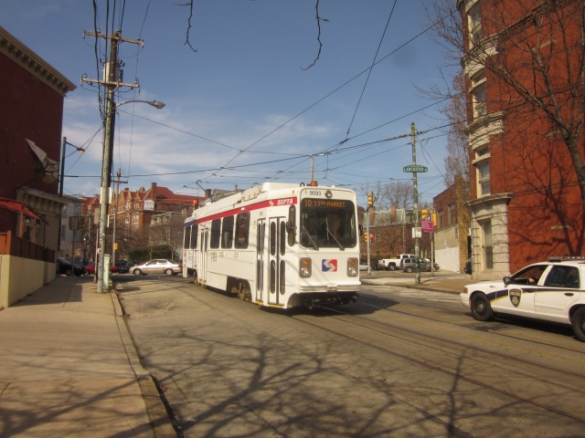 Route 10 trolley going south on 36th Street