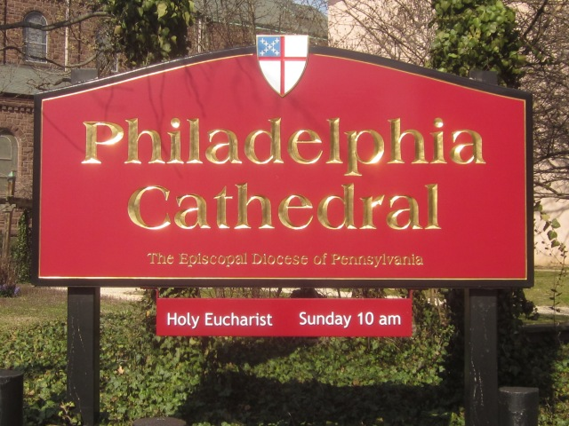 Sign of the Philadelphia Episcopal Cathedral