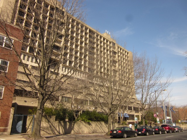 International House dormitory, next to the site of the new apartment tower