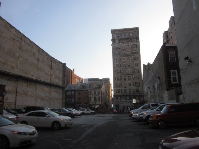 Looking south from Sansom Street, towards Walnut and Camac Streets