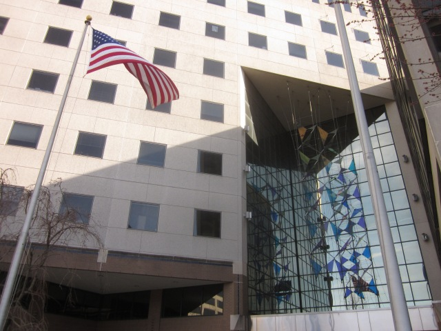 Office building, across Market Street, from 3601 Market Street site