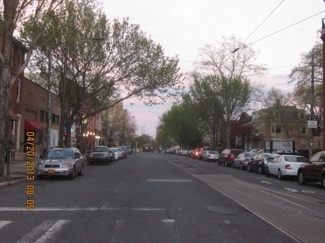 Looking east on Lancaster Avenue, from 36th Street