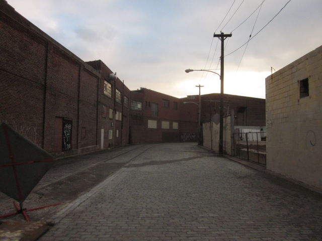 Looking down Canal Street, south of Laurel near Frankford, shows the barren streetscape that will someday be very active