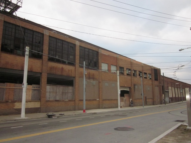 Ajax warehouse, along Frankford Avenue