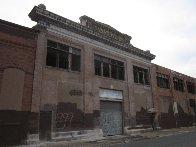 Closer view of Ajax warehouse on Richmond Street