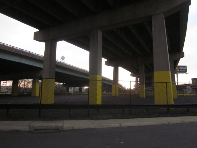 Parking will go underneath I-95