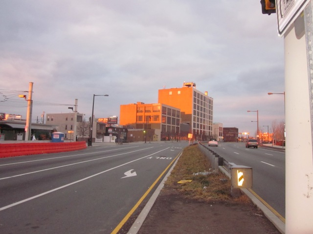 Looking north on Delaware Avenue