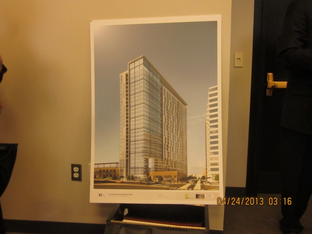 Rendering of 3601 Market Street apartment tower