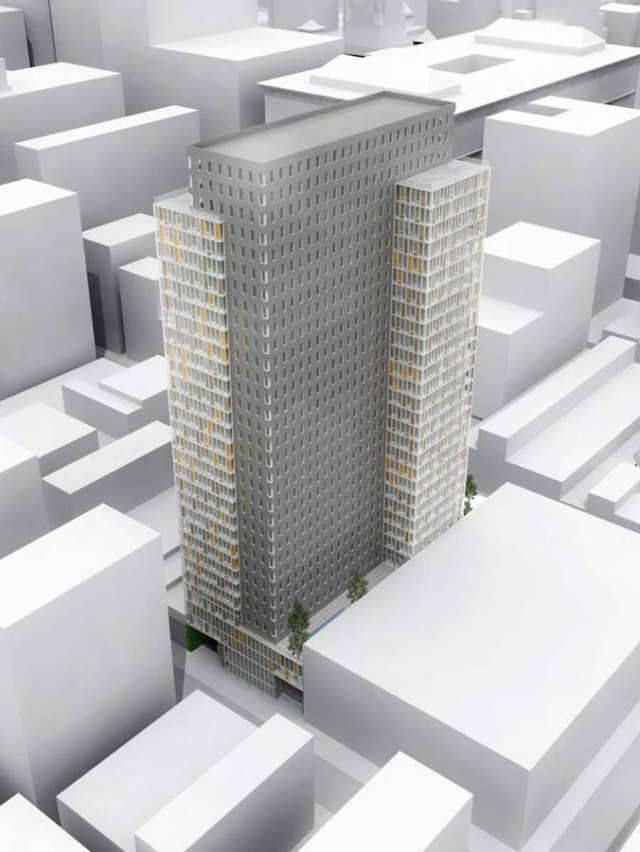 Rendering of 1213 Walnut Street apartment and hotel tower