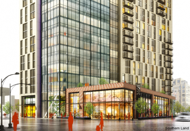 Rendering of the lower levels and retail businesses of 3601 Market Street