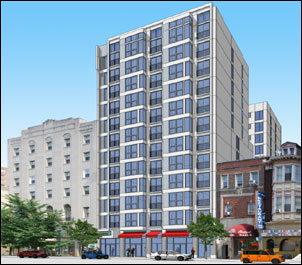 rendering of 2021 chestnut st. apartments