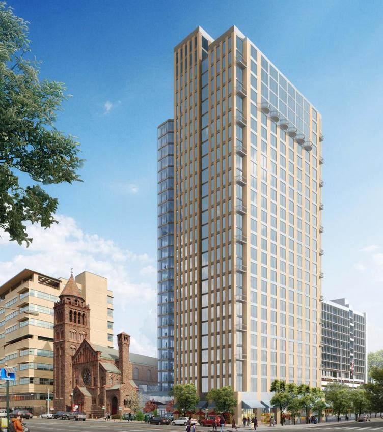 New Construction Apartment Building: New 25-storey Highrise Apartment Building At 38th