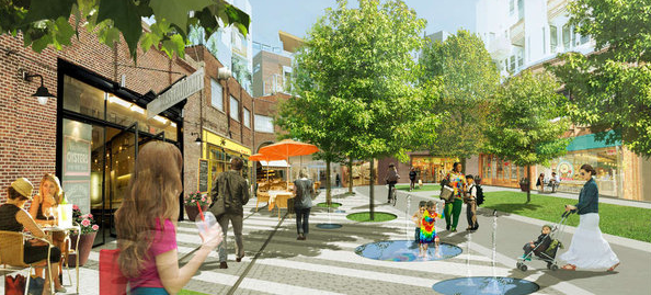 Rendering of plaza at Canal North
