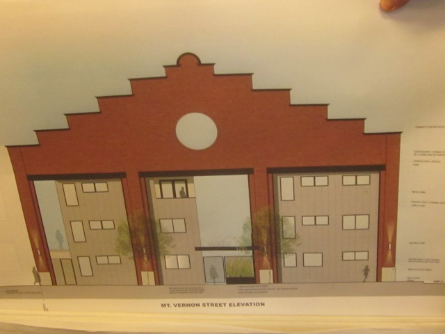 Rendering of the renovated 1221 Mt. Vernon Street