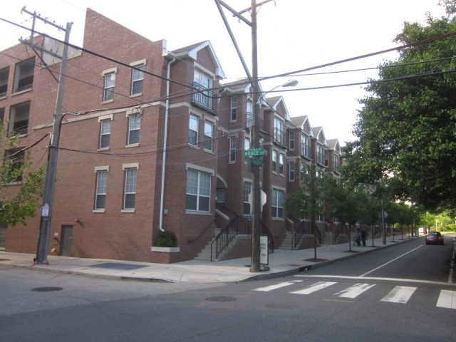 Edgewater townhouses, at 23rd & Race Streets