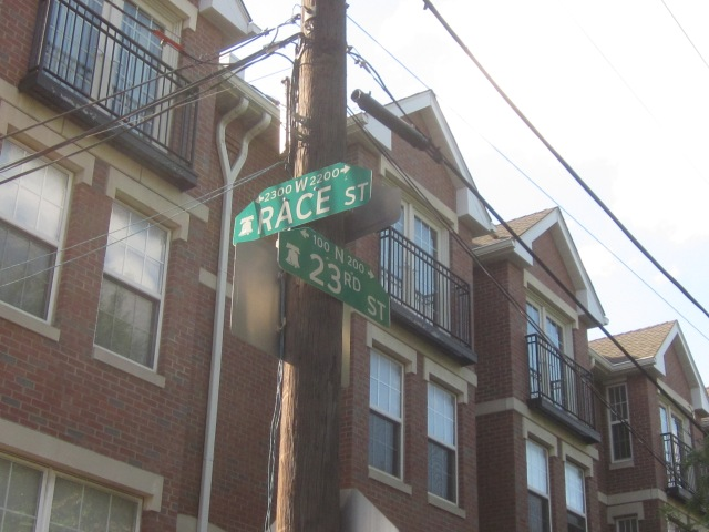 Street signs at 23rd & Race Streets
