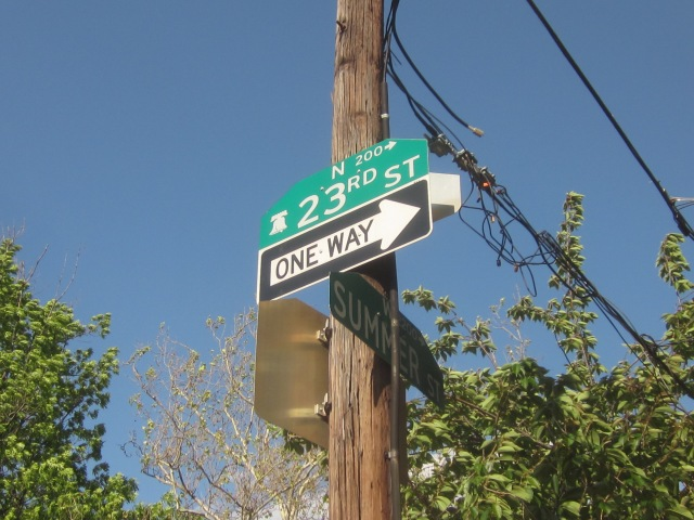 23rd and Summer street signs
