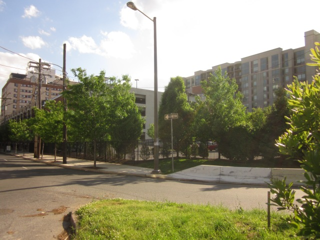 The site from across the offramp to the Vine Street Expressway