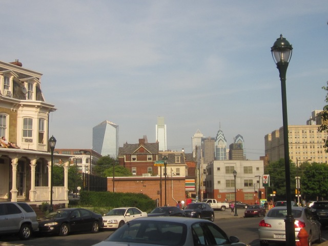 View of Center City skyline, from 35th and Lancaster