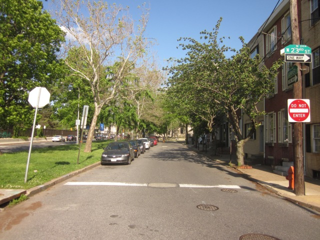 Looking down Summer Street, from 23rd Street