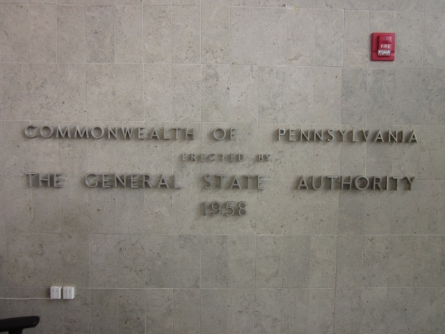 This sign, in the lobby, is a reminder of the building's history