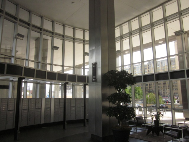 Lobby of Tower Place is a modernist design