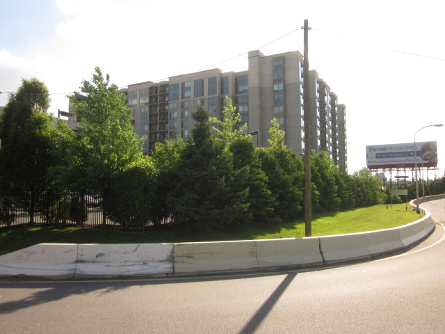 First Edgewater highrise, from across the expressway ramp