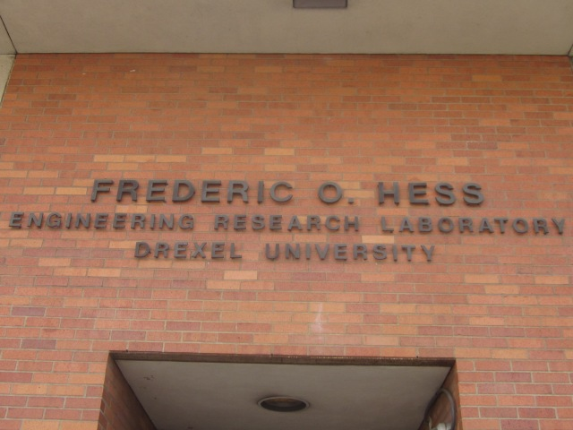 Sign above the entrance of the Hess Laboratory