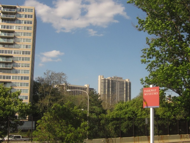 CityView Condominiums, north of the Parkway, as seen from 23rd and Summer Streets