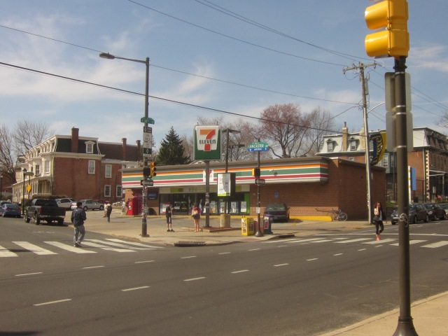 The 7-11 on the northwest corner of 34th Street and Lancaster Avenue